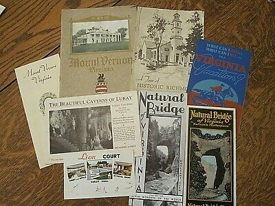 33 vintage VIRGINIA souvenir brochures/booklets-1921-1959-great for  resale