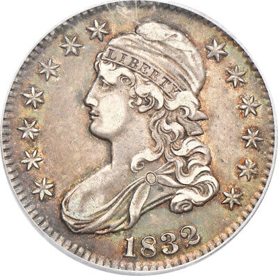 1832 Small Letters Capped Bust Half Dollar AU 50, PCGS 50c C00048512