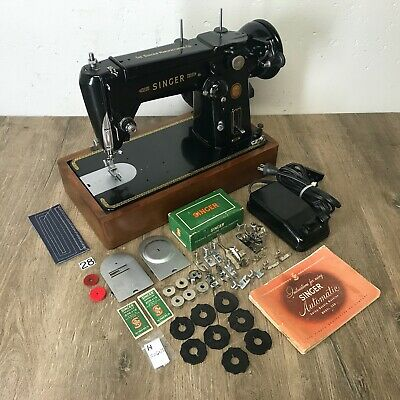 1954 Singer 306K Sewing Machine ZigZag Heavy Duty Serviced Works Perfectly
