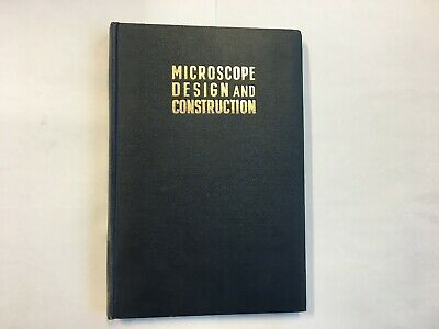 Vintage book microscope design and construction 1957 Historisches Mikroskop Buch