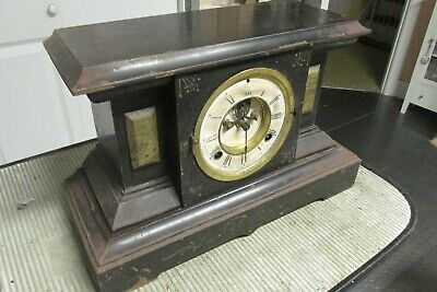 Antique Waterbury Heavy Iron, Mantle Clock Must See!