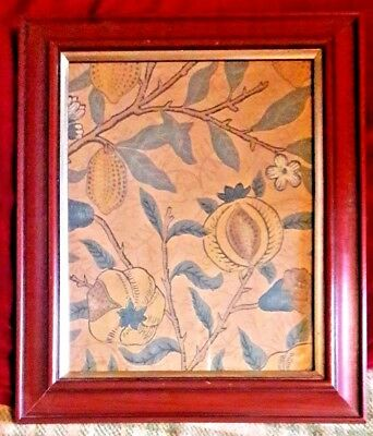 VINTAGE REPRODUCTION WILLIAM MORRIS FRUIT PICTURE - 13 x 11 inch overall