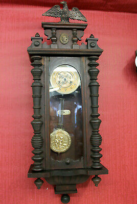 Antique Wall Clock Regulator Clock 19th century **MAUTHE**with Eagle