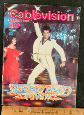 1980 Feb *Saturday Night Fever* Hbo Home Box Office Movie Guide Booklet (As)
