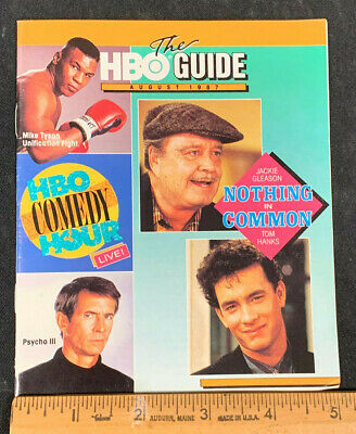 1987 August *Nothing In Common* Hbo Home Box Office Movie Guide Booklet (As)
