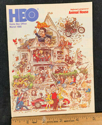 1980 March *Animal House* Hbo Home Box Office Movie Guide Booklet (As)