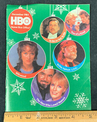 1984 December *Willie Nelson* Hbo Home Box Office Movie Guide Booklet (As)