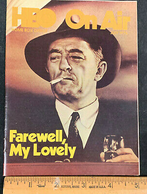 1976 July *Farewell, My Lovely* Hbo Home Box Office Movie Guide Booklet (As)