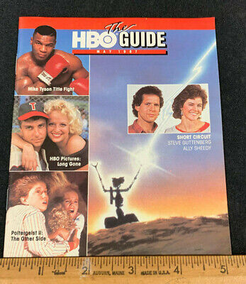 1987 May *Short Circuit/Mike Tyson* Hbo Home Box Office Movie Guide Booklet (As)