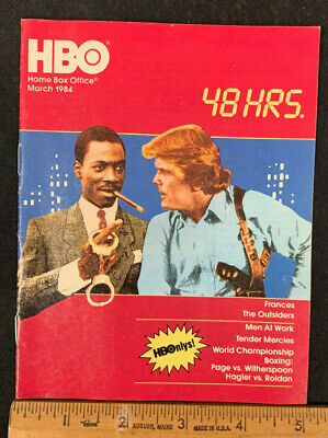 1984 March *48 Hours/Eddie Murphy* Hbo Home Box Office Movie Guide Booklet (As)