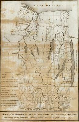 West Finger Lakes New York Mills early Settlements 1849 lithographed map