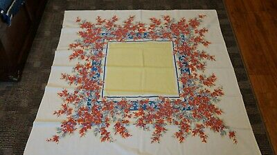 Gorgeous vintage table cloth 100% cotton cloth - 30s or 40s