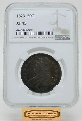 1823 Capped Bust Silver Half Dollar, NGC XF 45, Toned - #B18059