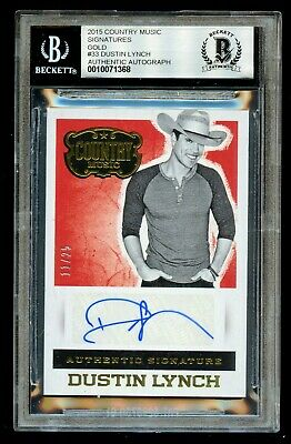 Dustin Lynch 11/25 signed autograph Panini Country Music BAS Slab Auto Grade 9