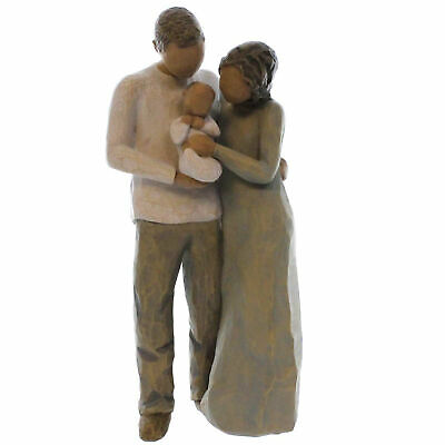 Willow Tree WE ARE THREE Polyresin Family Parents Baby Susan Lordi 27268