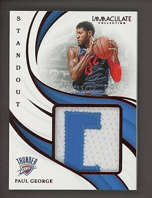 2018-19 Immaculate Red Standout Paul George Patch 13/25 Oklahoma City Thunder