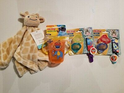 Baby nuby 6 month lot pacifiers sippy cup New