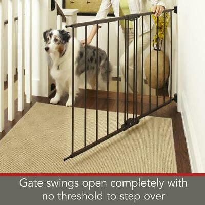 """Baby Safety Gate 29''-47"""" Wide Walk Through Pet Door Fence Stairs Child Tall New"""