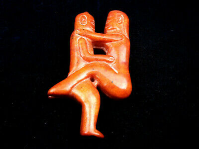 Old Nephrite Jade Stone Carved Sculpture 2 Ancient Exotic Figurines #01010207