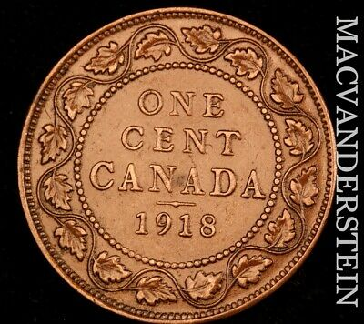Canada: 1918 One Large Cent - Scarce  Better Date  #NR4768