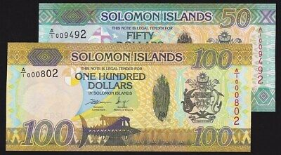 UNC $100 Pick New Hybrid Polymer A//1 Low S//Ns Solomon Islands 2015 ND