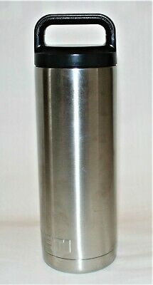YETI Rambler Stainless Steel Insulated Water Bottle W/ Lid Yramb18 Thermos 18oz