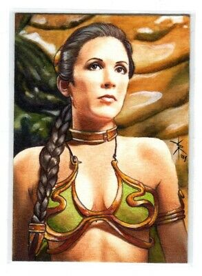 Star Wars Carrie Fisher As Princess Leia 1/1 Sketch Card