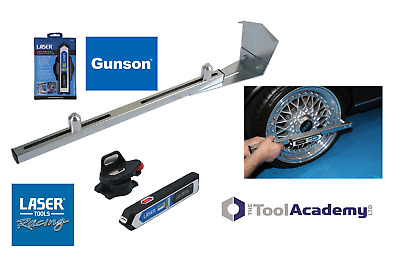 Laser Alignment line/beam Tool with 2 spirit levels + Camber WHEEL Bar DIY HOME