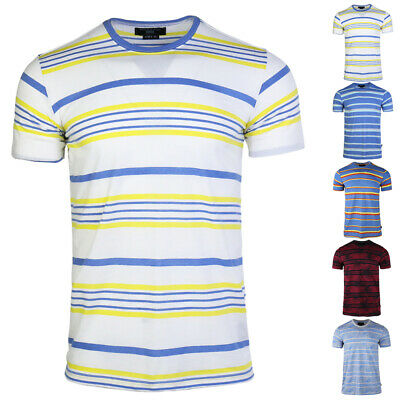 Men's 2020 Summer New Trendy Stripe T-shirt Students Casual Loose Pullover Tee
