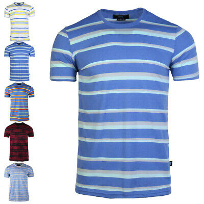 Mens' Fashion Striped Cotton T-shirt 2020 Summer New Loose Round Neck Basic Tee