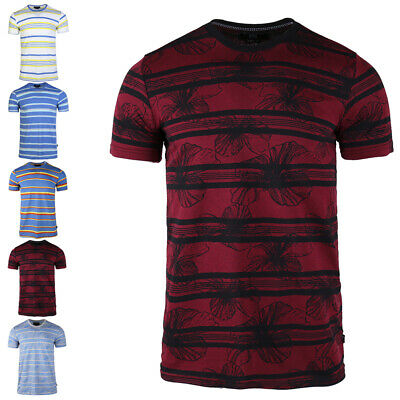 2020 Summer Mens New Cotton Stripes Short-sleeved Loose T-shirt Sport Tee