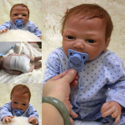 "22"" Full Body Realistic Reborn Dolls Lifelike Baby Boy Newborn Doll Gifts V9X5N"
