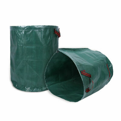 2 X Garden Waste Bags - Heavy Duty Large Refuse Storage Sacks with Handles 272L
