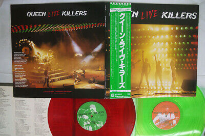 QUEEN LIVE KILLERS ELEKTRA P-5567,8E Japan OBI RED VINYL VINYL 2LP