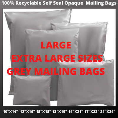 Extra Large  Self Seal Post Bags Postage Grey Poly Mailing Postal Parcel Bags