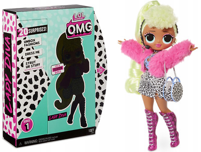 LADY DIVA L.O.L. SURPRISE OMG FASHION TOP SECRET GROßE LOL PUPPE MIT HAAREN