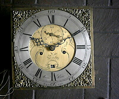 James Pike Of Newton Abbot 12X12 Inch Longcase Clock Movement C1770