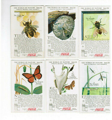 Coca Cola Coke 12 World of Nature Insects Helpful and Harmful Cards Series VIII
