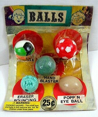 Mad Bad Ball Puzzle Ball Toys Prizes Old Gumball Vend Machine Display Card #146