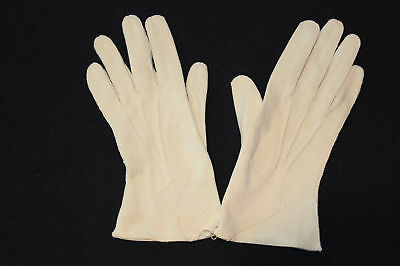 Vintage 1940'S-1950'S Cream Fine Cotton Gloves Size 5