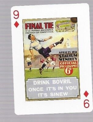 Football Legends tradecard F A CUP PROGRAMME NEWCASTLE UNITED v ARSENAL