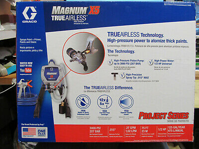 New Graco Magnum X5 True Airless Paint Sprayer 262800 Paint Stain Paint/Primer