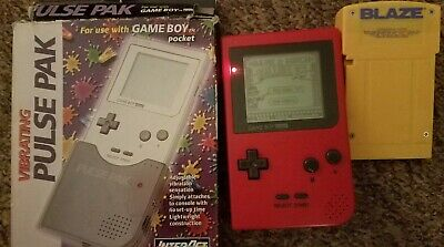 Nintendo Game Boy Pocket Red Handheld System plus game and accessories