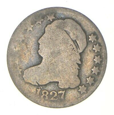 EARLY - 1827 - Capped Bust Dime - Eagle Reverse - TOUGH - US Type Coin *315