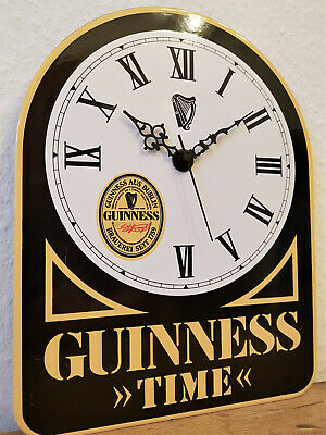 Emaillie Wanduhr Junghans Guinness Time 70er Jahre