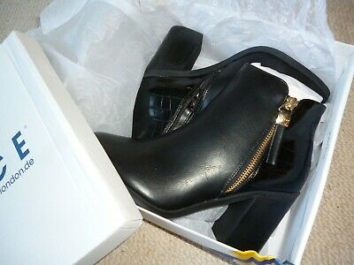 Office Black Croc Ankle Boots,BNIB,Sz5,Smart/Casual/Work/Play,Hippy Rock Chick.
