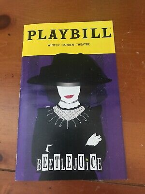 Beetlejuice January 2020 Limited Edition Lydia Playbill