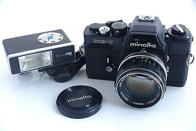 Minolta XE-7 with MC Rokkor-PF 58mm 1.4. Nice working condition.