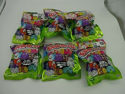 Lot of 6 Squish-Dee-Lish Wacky Series 3 Mystery Pack Blind Bags New Sealed