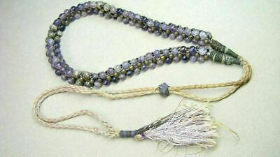 Antique Chinese Strand Amethyst Beads Necklace  Prayer Beads?